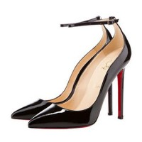 Christian Louboutin Halte 120 Pointed Toe Pumps Patent Black