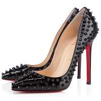 Christian Louboutin Pigalle Spikes 120mm Patent Black
