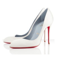 Christian Louboutin Pigalle Corneille 100mm Satin Pumps White