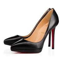 Christian Louboutin Pigalle Plato 120mm Leather Pumps Black