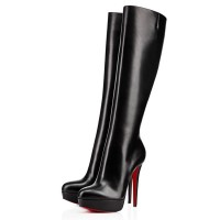 Christian Louboutin Bianca Botta 140mm Leather Boots Black