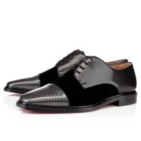 Men's Christian Louboutin Bruno Orlato Loafers Carbone