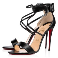 Christian Louboutin Choca 100mm Sandals Black