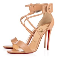 Christian Louboutin Choca 100mm Sandals Nude