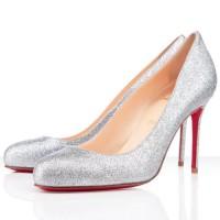 Christian Louboutin Fifi 85mm Glitter Silver