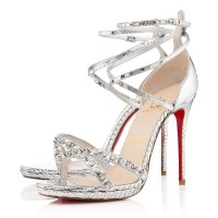 Christian Louboutin Monocronana 120mm Sandals Silver