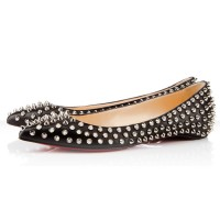 Christian Louboutin Pigalle Spiked Ballerina Flat