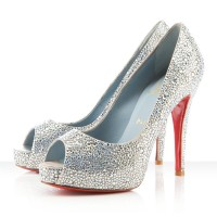 Christian Louboutin Very Riche 120mm Strass Silver