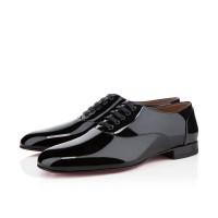 Men's Christian Louboutin Fredo Patent Flat Black