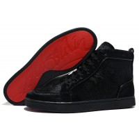 Men's Christian Louboutin Rantus Orlato High Top Sneakers Black