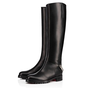 Christian Louboutin Croche Cate 20mm Leather Boots Black