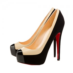 Christian Louboutin Mago Two Tone 160mm Suede Pumps Black