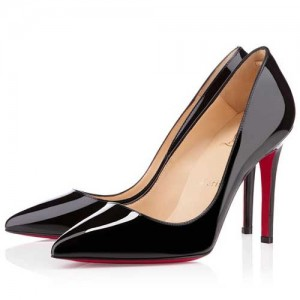 Christian Louboutin Pigalle 100 Patent Pumps Black