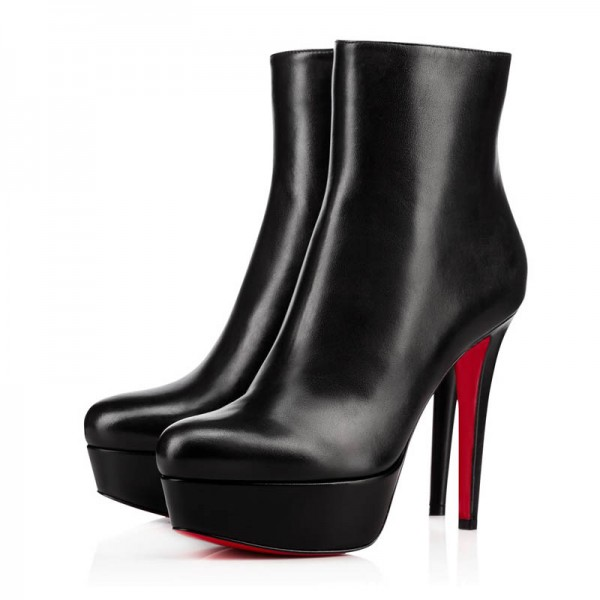 Christian Louboutin Bianca Booty 120mm Leather Black