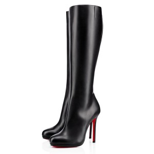 Christian Louboutin Botalili 120mm Leather Boots Black