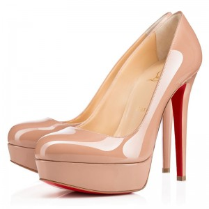 Christian Louboutin Bianca 140mm Patent Pumps Nude