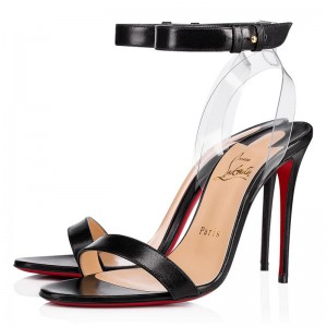 Christian Louboutin Jonatina 100mm Sandals Black/Transp