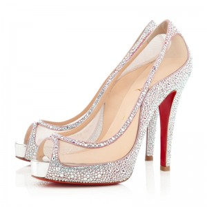Christian Louboutin Camillas 120mm Strass Peep Toe