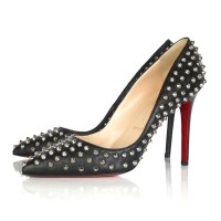 Christian Louboutin Pigalle Spikes 100mm Pumps Black/Silver
