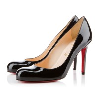 Christian Louboutin Simple Pump 100mm Patent Black