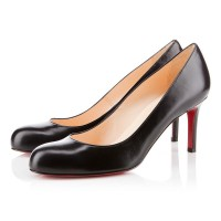Christian Louboutin Simple Pump 70mm Leather Black