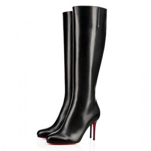 Christian Louboutin Fifi Botta 85mm Leather Boots Black