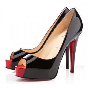 Christian Louboutin Hyper Prive 120mm Patent Pumps Black/Red
