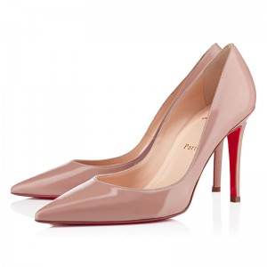 Christian Louboutin New Decoltissimo 100mm Patent Pumps Nude