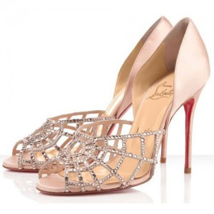 Christian Louboutin Aranea 100mm Sandals Nude
