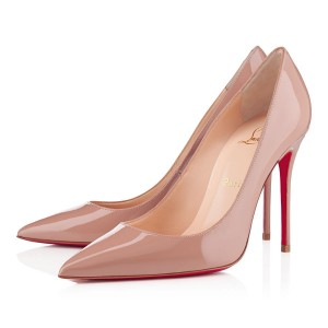 Christian Louboutin Decollete 554 100mm Patent Nude