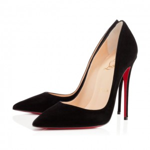 Christian Louboutin So Kate 120mm Suede Black