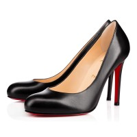Christian Louboutin Simple Pump 100mm Leather Black