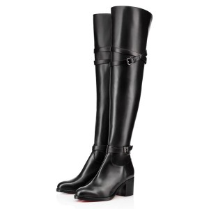Christian Louboutin Karialta 70mm Leather Boots Black