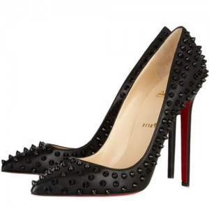 Christian Louboutin Pigalle Spikes 120mm Pumps Black