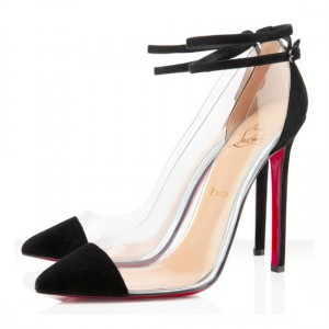 Christian Louboutin Un Bout 120mm PVC Pumps Black