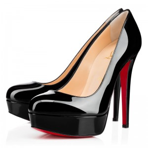 Christian Louboutin Bianca 140mm Patent Pumps Black