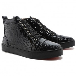 Christian Louboutin Louis Python High Top Sneakers Black