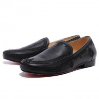 Men's Christian Louboutin Croc Maroc Loafers Black